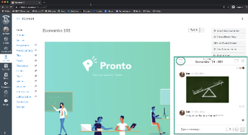 Screenshot of Pronto in Canvas Shell